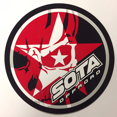 SOTA Offroad Skully/Star Round Sticker
