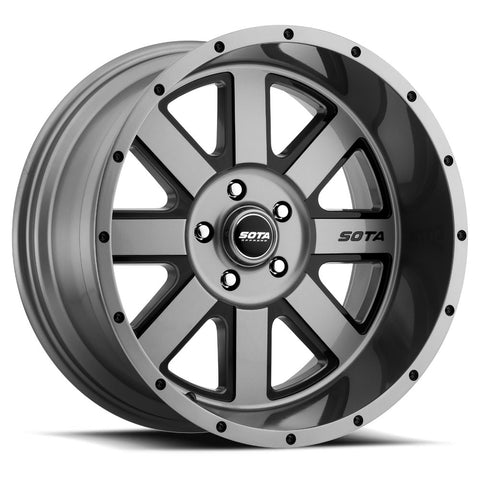Set of 5 A.W.O.L. 20x12 5x5 -51mm Anthra-Kote (Fits: Lifted Jeep JK & JK)