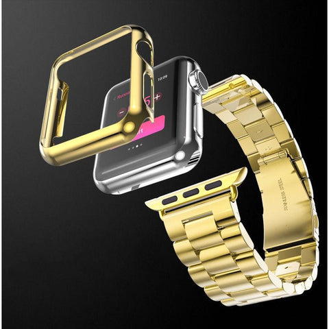 Gold-Plated Stainless Steel Watch Band For Apple iWatch - Aladdin's Treasures