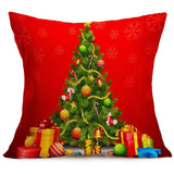 Square Linen Christmas Pillow Cover - Aladdin's Treasures
