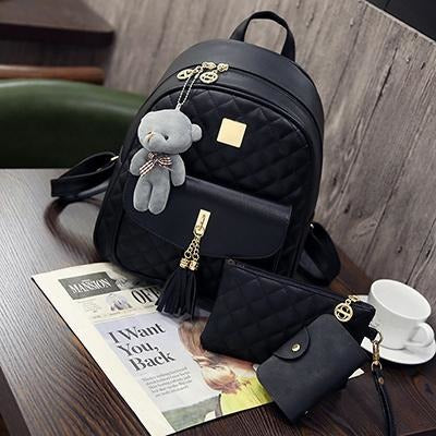 3 Pcs Backpack Set With Teddy - Aladdin's Treasures