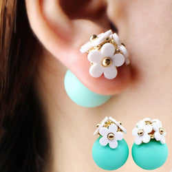 Flower Earrings with Ball Backings - Aladdin's Treasures