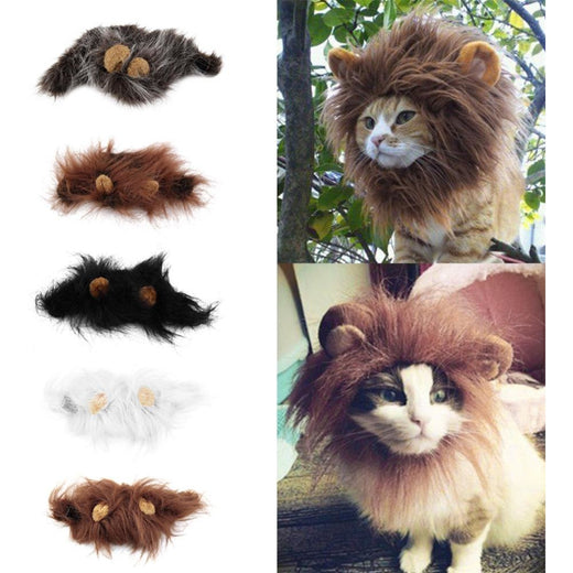 Lion's Mane and Ear Head cap for small pets
