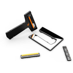Ultra-Portable Card Pocket Safety Razor with Mirror & Blades - Aladdin's Treasures