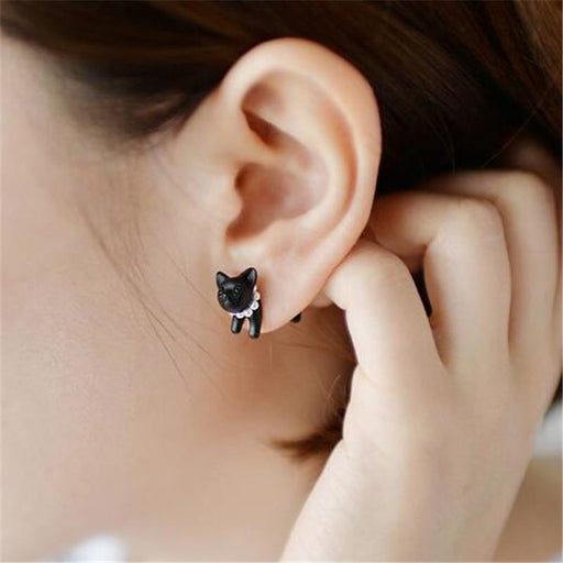 1 Piece !! 3D Cat Pearl Stud - Aladdin's Treasures