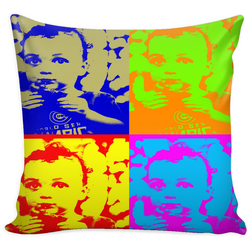 "Andy Warhol-Style  ""Boy With Cookie"" Pillowcase - Aladdin's Treasures"