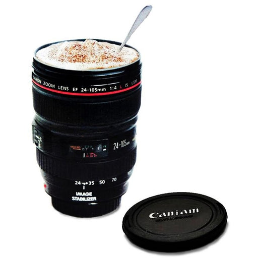SLR Camera Lens Mug With Lid - Aladdin's Treasures