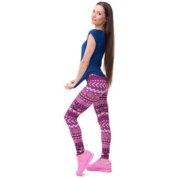 Slim Waist Fashion Printed Leggings - Aladdin's Treasures