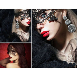 Sexy Black Lace Mask - Aladdin's Treasures
