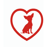Chihuahua Heart Decal - Aladdin's Treasures