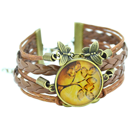 Newest Tree of Life and Butterfly Vintage Leather Bracelet - Aladdin's Treasures