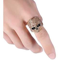 Punk Rock Skull Ring - Aladdin's Treasures