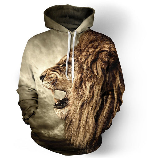 Lion Ancient Hoodies - Aladdin's Treasures