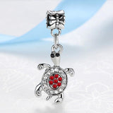New Silver-Plated Charm With full Crystal Pendant - Aladdin's Treasures