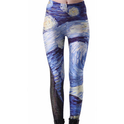 Fashion Cloud-Print Leggings - Aladdin's Treasures