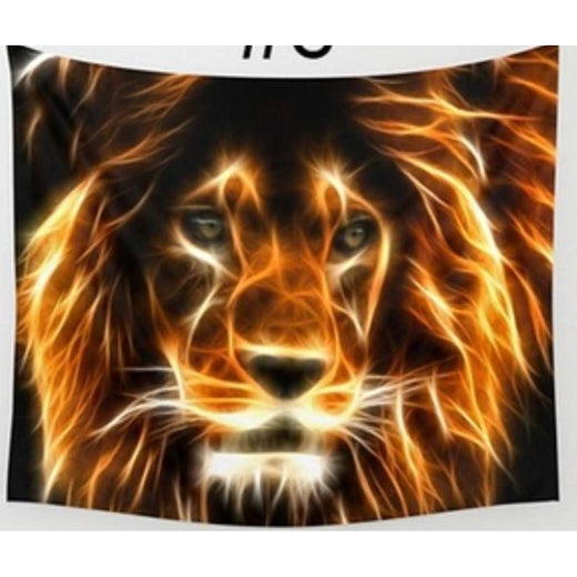 Sparks Fly - Lion Wall Art