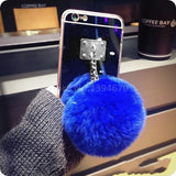 Luxury Fuzzy Pom Pom iPhone Case - FREE Just Pay Shipping - Aladdin's Treasures