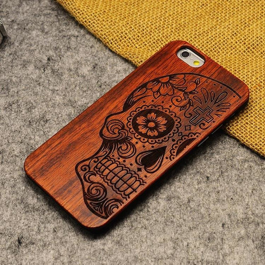 Luxury Natural Wood Case For iPhone