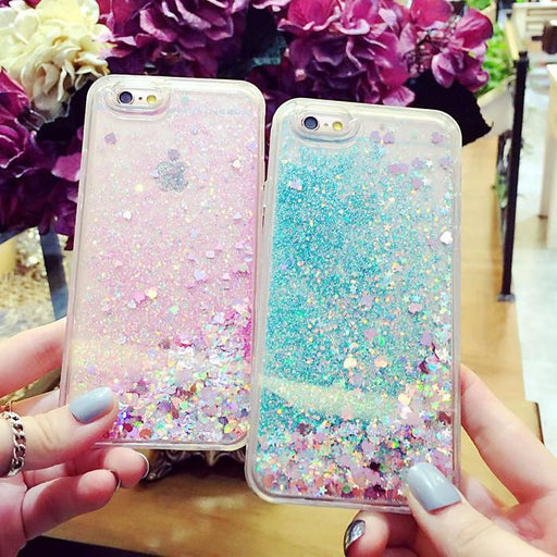 Fashion Liquid Glitter iPhone Cases - Aladdin's Treasures