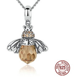 925 Sterling Silver Bee Necklace - Aladdin's Treasures
