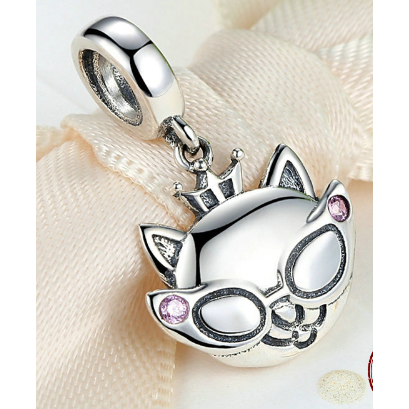 Little Cat Crown Pendant Charm - Aladdin's Treasures
