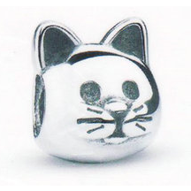Sterling Silver Cat Charm - Aladdin's Treasures