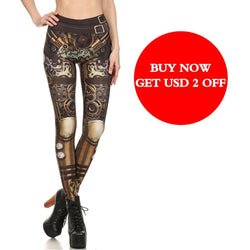 Fashion Design Steampunk Leggings - Aladdin's Treasures