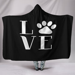 Black Love Dogs Hooded Blanket - Aladdin's Treasures