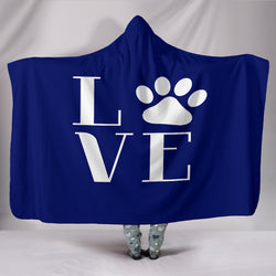 Blue Love Dogs Hooded Blanket - Aladdin's Treasures