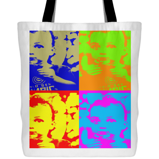 "Andy Warhol-Style  ""Boy With Cookie"" Tote - Aladdin's Treasures"