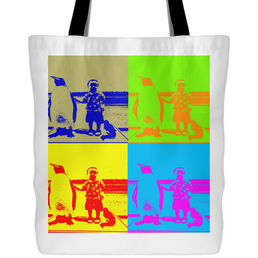 "Andy Warhol-Style ""Boy With Penguin"" Tote - Aladdin's Treasures"
