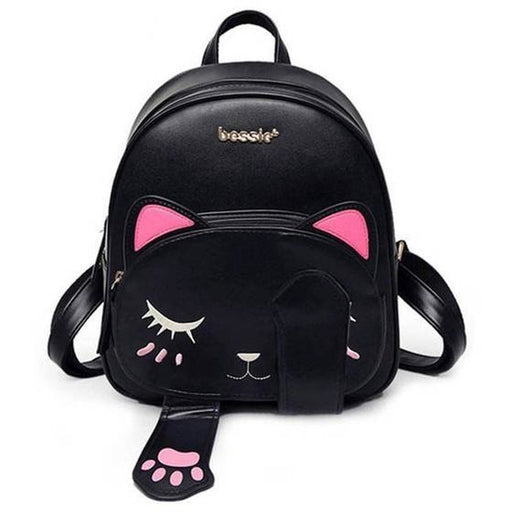 Cute Cat Vegan Leather Backpack - Aladdin's Treasures