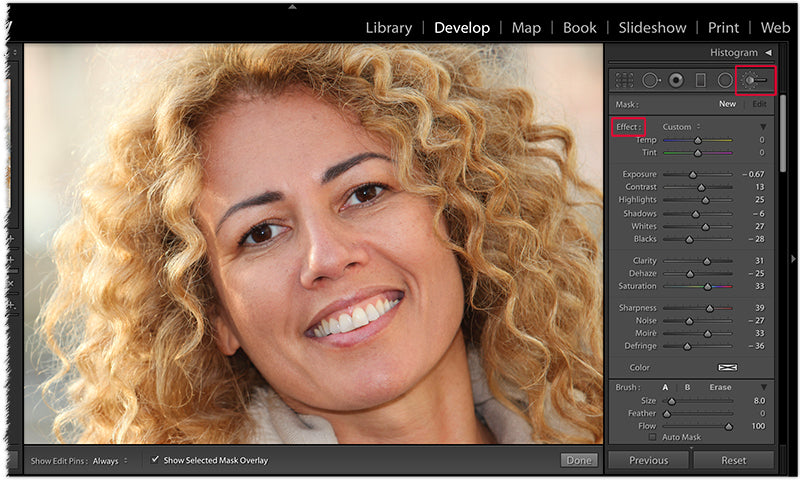 Smooth and Creamy Skin in Lightroom