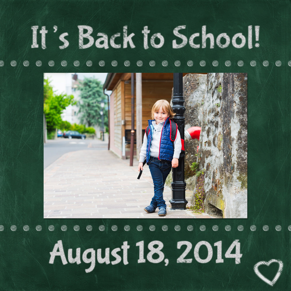 digital chalkboard and scrapbooking for back to school