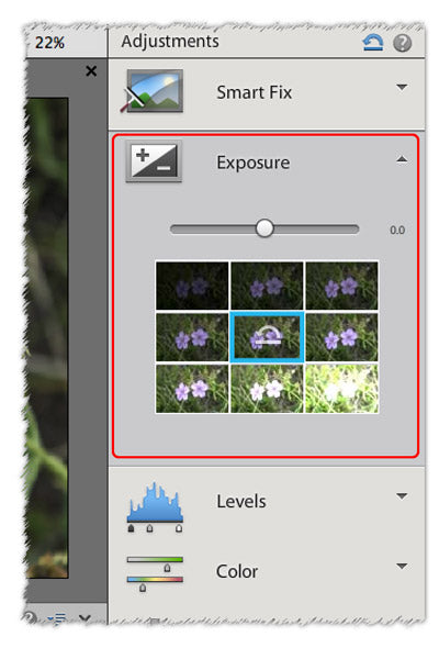 fix exposure and contrast in pse12