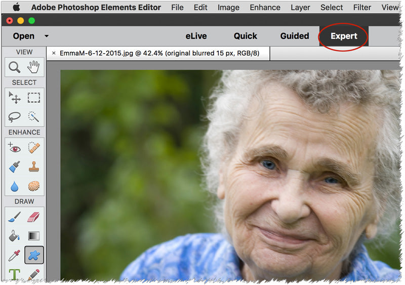 Photoshop Elements shake reduction, haze removal features