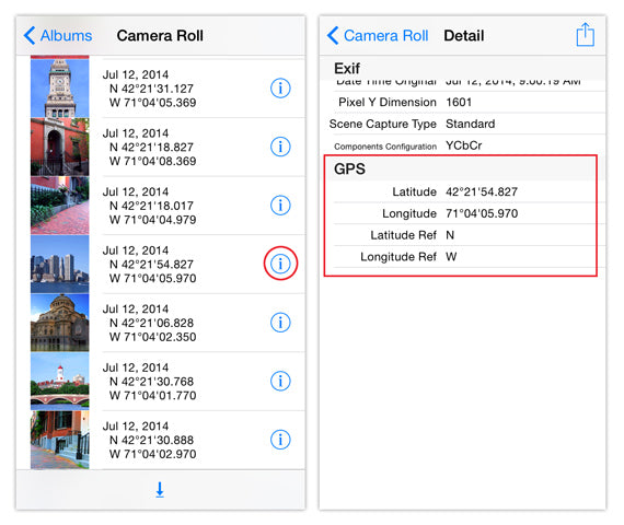 Remove Location Data iPhone Photos