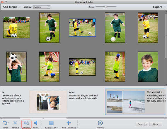 creating slideshows in photoshop elements
