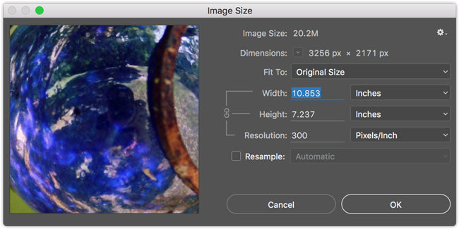 understanding print size and resolution for your photos