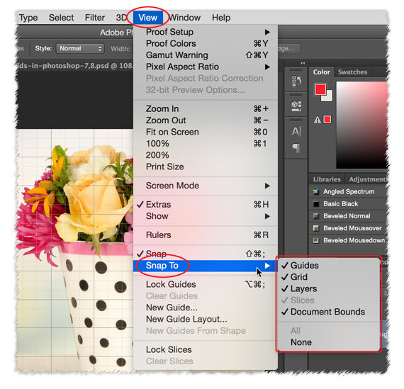 Using Grids In Photoshop