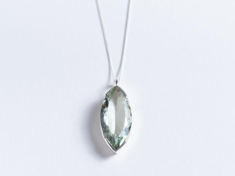 Marquee // Green Amethyst Pendant