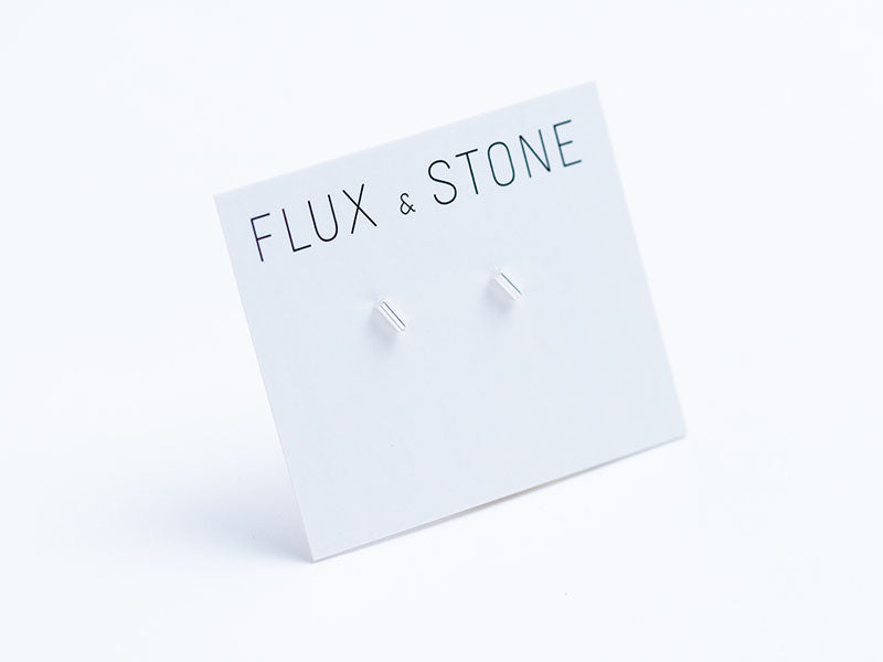 Sterling Silver Bar Studs // Earrings