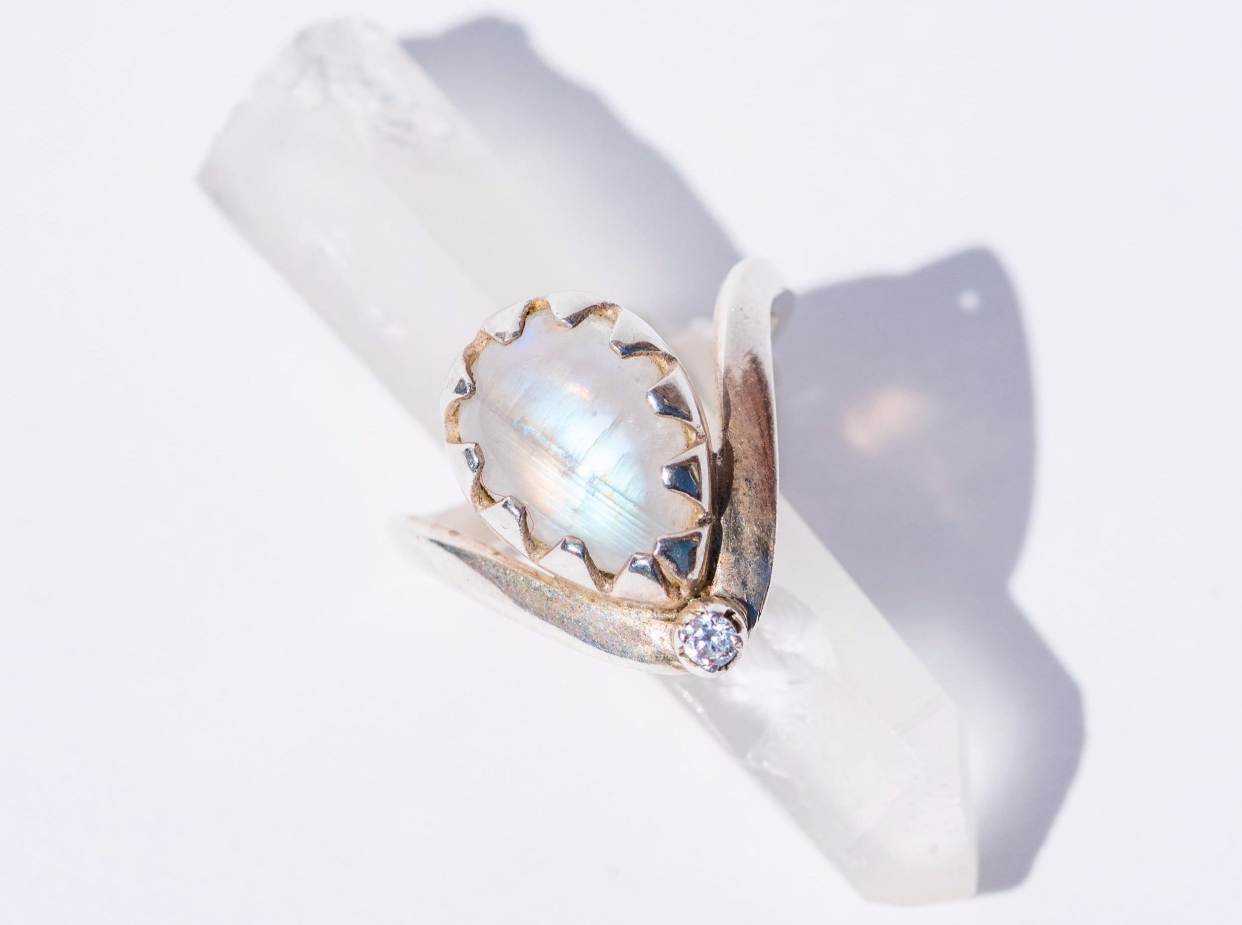 Moonstone Magic Chevron Ring