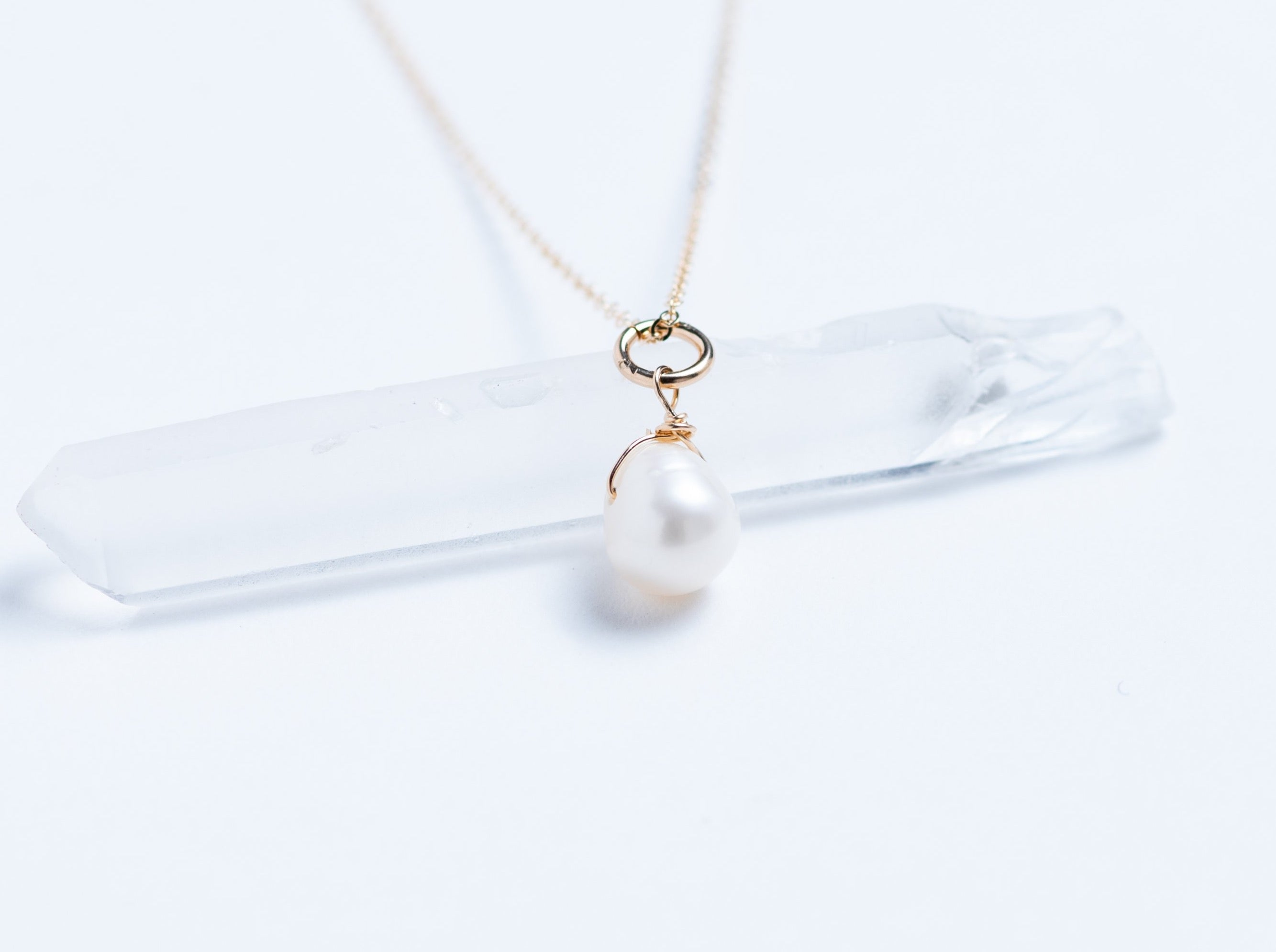 Drop Freshwater Pearl Necklace