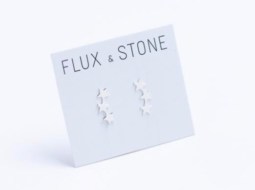 Hearts or Stars Sterling Silver Ear Climbers // Earrings