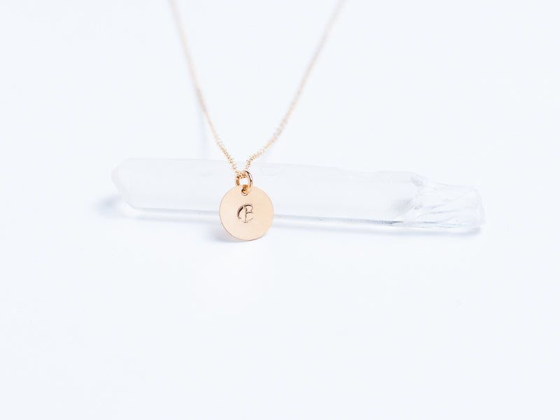 Gold Fill Monogram Stamped Pendant // Pendant