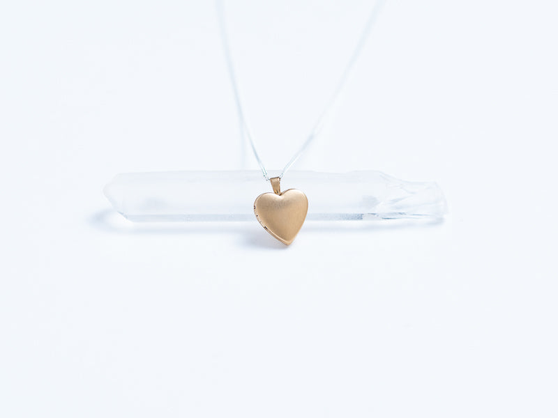 Gold Fill Heart Locket // Pendant