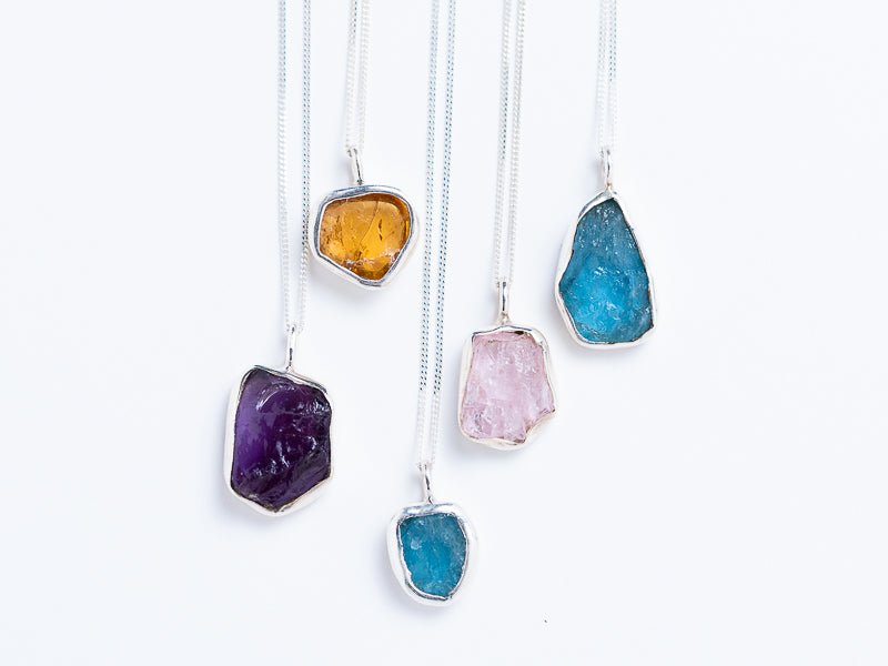Raw Gemstone Pendants