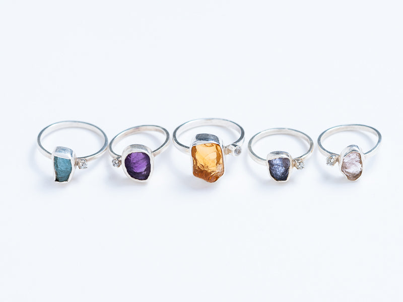 Raw Gemstone Ring