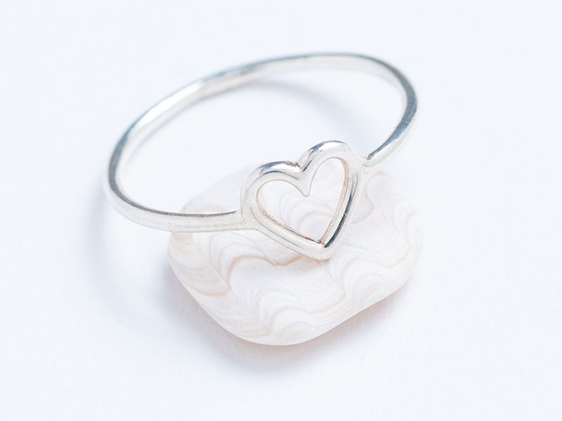 Silver Heart Stacking Ring
